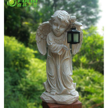 Quanzhou manufacture outdoor handmade resin crafts famous life size guardian angel statue