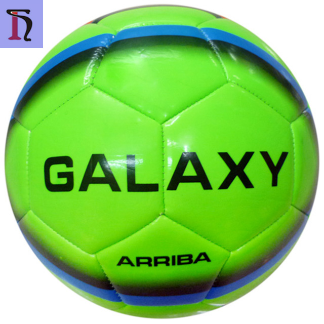 machine stitched 5 # Galaxy green colors shiny TPU football for training outdoor soccer game wholesale football soccer ball