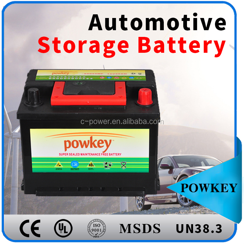 Balance charged A standard used car storage battery 12 korean car battery