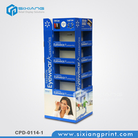 Large floor shelves paper cardboard eyewears merchandising stands displays
