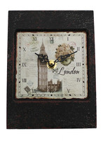 rectangular shape square clock dial print roman numerals kent table clock