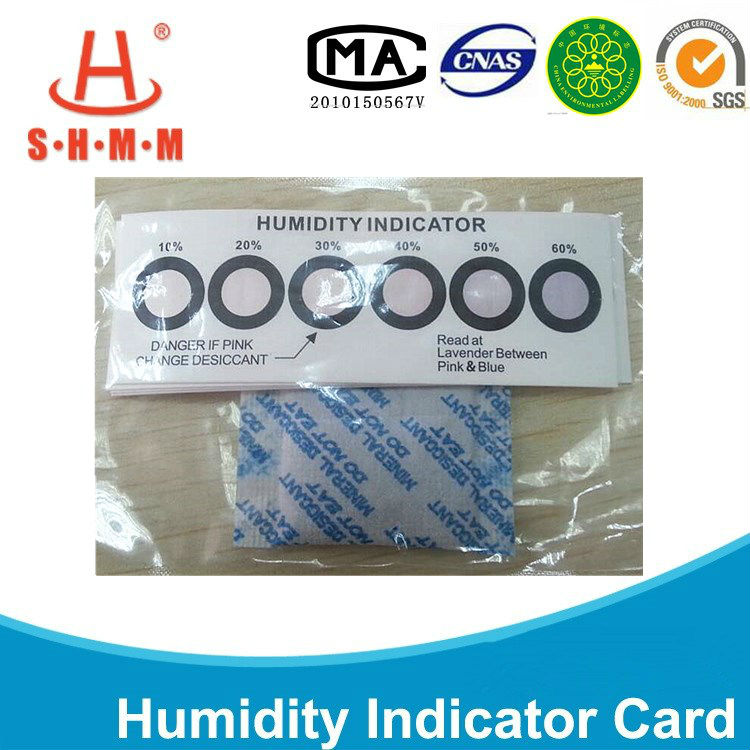 2014 Six dots 10-60% humidity indicator label with desiccant bag