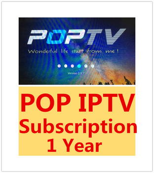 Pop IPTV Subscription One year