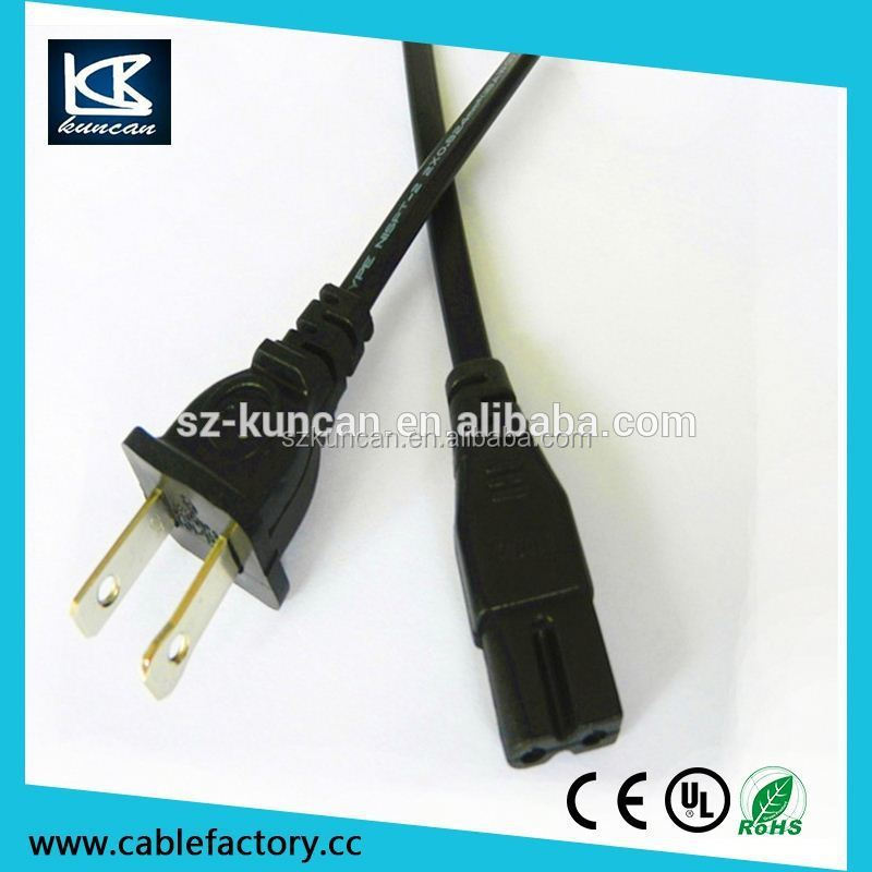 US/Canada/Thailand power cord plug,ac power cord for tv,plug blossom tail flat iron power cord