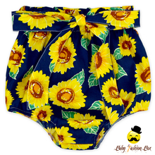 Organic Cotton Sunflower Printed Baby Girl Floral Free Panties Type Bloomer For Kids