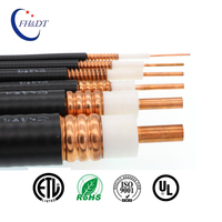 "50ohm Corrugated RF Coaxial1-1/4"" wire feeder cable with Fire Retardant Jacket"