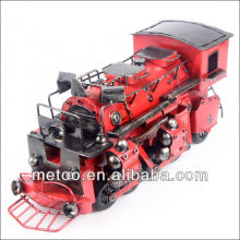 Metal crafts King-size iron red steam engine model
