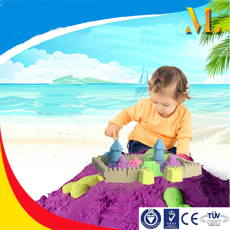 2014 Hot Educational Intelligent Kinetic Play sand DIY zoo child toy Moving Sand For Kids