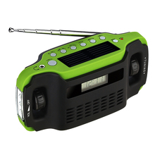 Solor Rechargeable Hand Crank Emergency Lantern Torch Light With AM FM Radio
