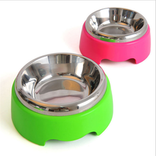 New Fashionable Steel Stainless Dog/Cat Bowl Colourful Healthy Pet Bowl
