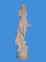 Decorative Exquisite Nude Sexy Women Stone Statues