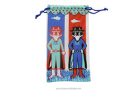 Cartoon Double Rope Glasses Pouch / Sunglass Bag /Microfiber Pouch/Printing