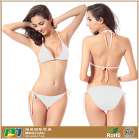 Halter Triangle Padded Top Bikini Set Swimwear Swimsuit