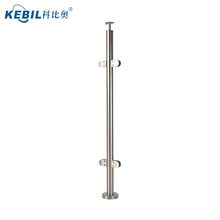 Stainless steel balustrade handrail posts for outdoor terrace / stair / balcony glass railing for sale