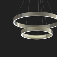 L4U ETL cETL Listed Popular Design Double Circles Acrylic Chandelier lights for Dinning Room