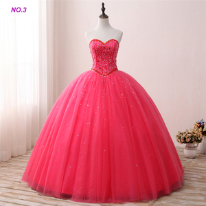 Rose Red Sweetheart Ball Gown Quinceanera Dress