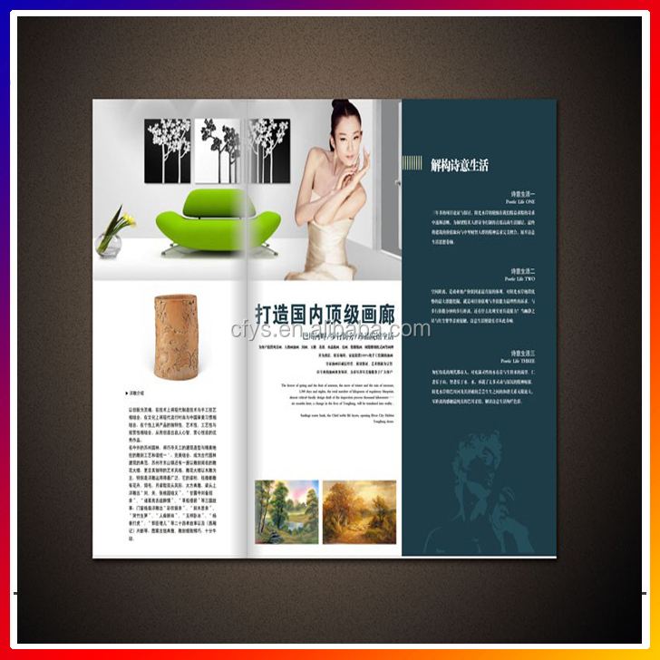 High quality Personalized advertising Book/ Flyers / Leaflet / Catalogue / Brochure / Magazine printing