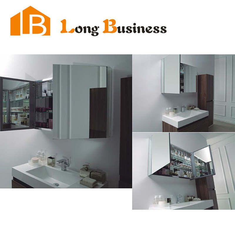 The latest design 30 bathroom mirror cabinet with light for Bathroom cabinets 250mm