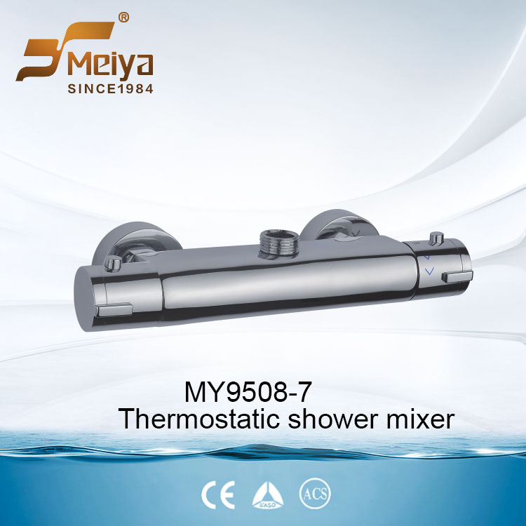 Wall Mounted Double Handle Thermostatic Shower Mixer Faucet