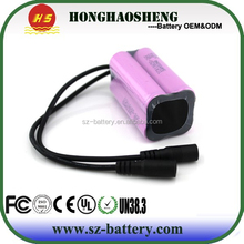 Rechargeable 2S2P 18650 7.4v 5200mah Li-ion Battery Pack