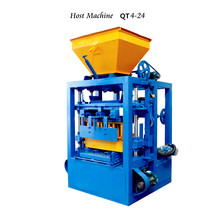 QT4-24 Small Concrete hollow block making machine price