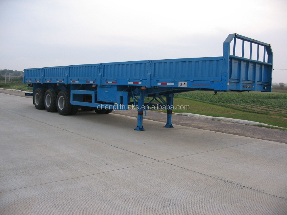 Hot Sale Cheap Price 3 Axles Side Wall Cargo Trailer 40 ton Fiberglass Enclosed Trailers