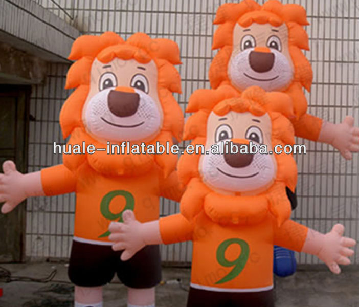 inflatable model lion for advertising decoration