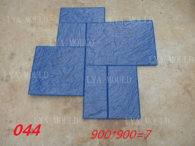 Stamped Rubber Flooring : Decorative concrete stamp mats buy slate stamped rubber