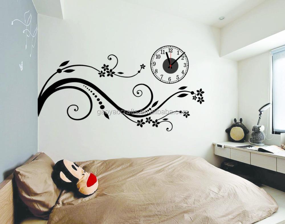 Grossiste stickers fleurs noires acheter les meilleurs for Conception 3d chambre