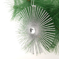 2016 New 15cm plastic glittered snowflake ornament Christmas decorations