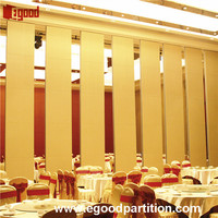 pulleys sliding type room divider partition wall for hotel interior decorative