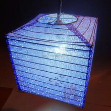 New design fashional square paper promotion lantern