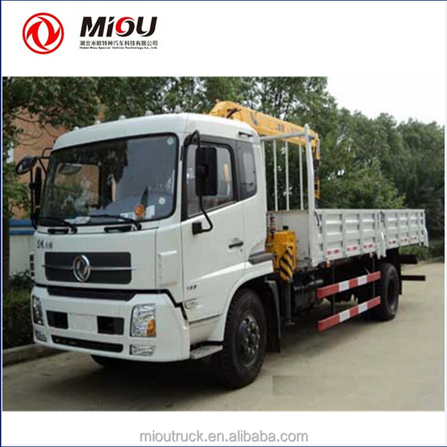 DongFeng manufacture 3ton cranes diesel arm crane truck for sale