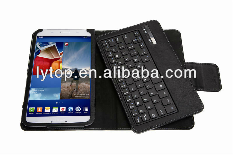 detachable keyboard leather case for samsung tab3 8' T310