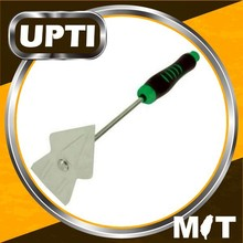 Taiwan Made High Quality Stainless Steel Two-Tone Ergo Handle Garden Hand Tool Digging Hoe Shovel