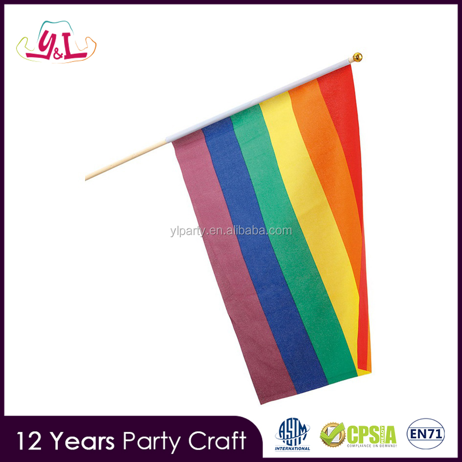 2017 New Premium LGBT Gay Pride Flag Banner - 42x30 cm