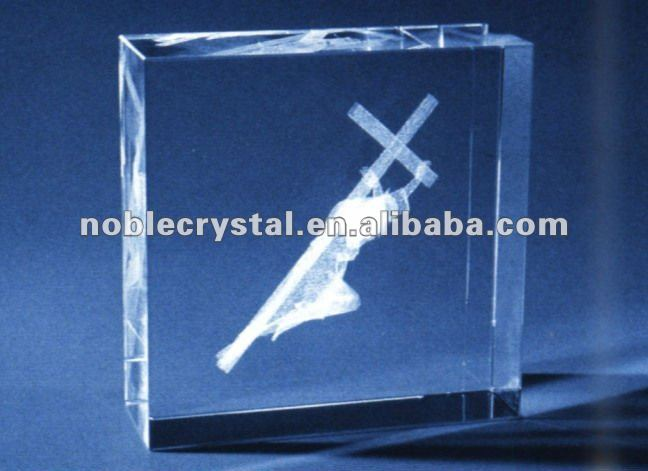 3D Laser Cross Jesus Crystal Gift As Christmas Gifts