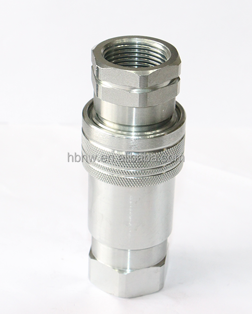 agricultural application stainless steel 304 ISO 7241A bsp nut pipe ball joint quick connect coupling