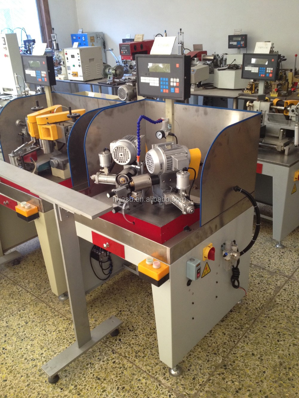 hinge inserting machine, single head air-drived