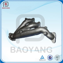 Gray cast iron turbo exhaust manifold for a twin V6 engine