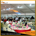 Customized transparent windows Span Tents for Events with Furniture/Floor/Cooling/Lighting