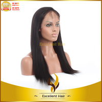 natural black 10inch - 14inch yaki indian remy cheap full head cap swiss lace wig