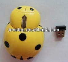 2013 New design good quality cheap lovely animal 2.4G wireless mouse USB port wireless mouse