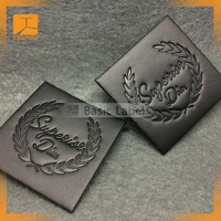 jeans fake leather patch with Metal Logo Fashionable Leather Badge for Garment can be supply