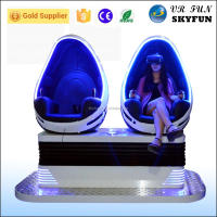 Skyfun 9D movies cinema with free movies and games, hot sell virtual reality equipment 360 degree rotating egg