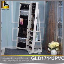 Stand rotating mirror full length mirror jewelry cabinet for bedroom