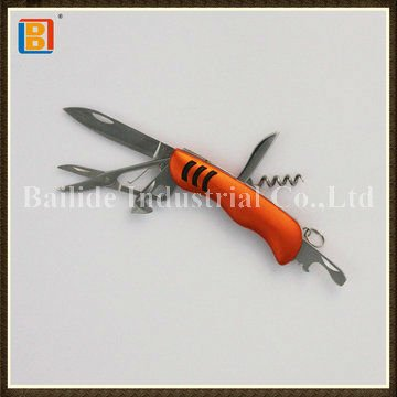 2017 Best Selling 6 In 1 Multifuntional Stainless Steel Folding Knife Application Wave Knife Souvenir Gift Knives Items
