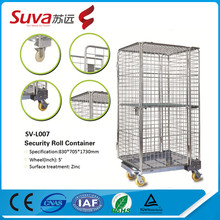 ball storage cages heavy duty material handling trolley metal security roll trolley