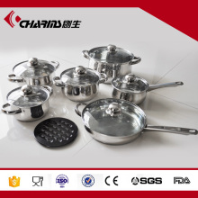 kitchen cooking utensil Stainless Steel cooking pots and pans Set kitchen utensils wholesale