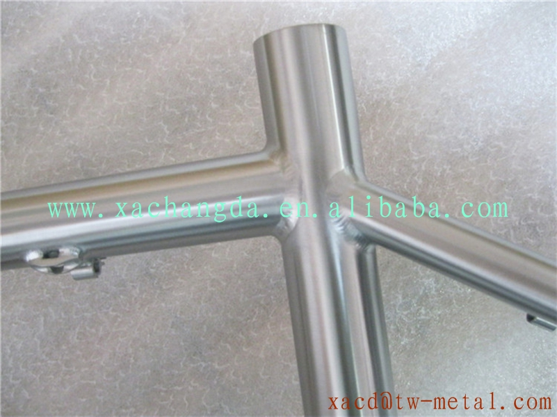 titanium fat bike frame snow bike frame with handing brush finished customize fat bike frame